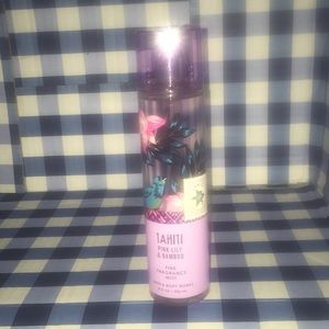 Bath body works Tahiti pink lily bamboo fragrance